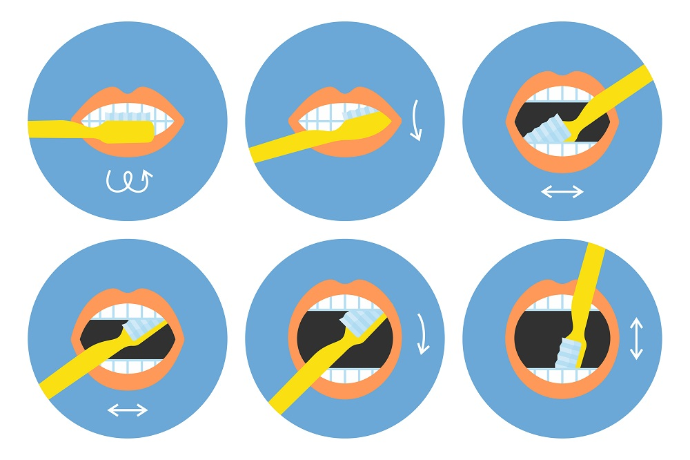 How to brush your teeth instructions 6 steps